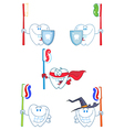 Tooth Cartoon Characters-Collection vector image vector image