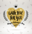 Valentines day hand drawn greeting vector image vector image