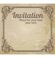 vintage frame and grungy background vector image vector image