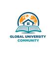 world university logo designs vector image vector image
