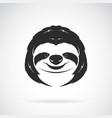 sloth head design on white background wild vector image