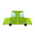 car green isolated transport on white background vector image
