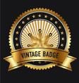 Premium Gold Quality Labels vector image