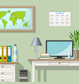 a classic homeoffice vector image vector image