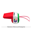 A Whistle of Federation of Bosnia and Herzegovina vector image