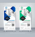 abstract business professional roll up banner vector image vector image