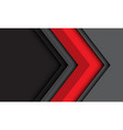 abstract red grey arrow direction with dark
