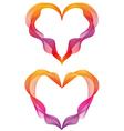 abstract ribbon hearts vector image