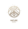 abstract sacred symbol nature logo vector image vector image