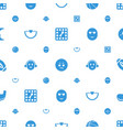 ball icons pattern seamless white background vector image vector image