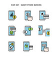 banking icon collection set for design flat lay vector image
