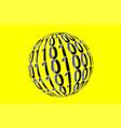 binary code symbol design eps 10 vector image