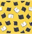 black books seamless pattern vector image