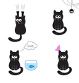 Black cat collection vector image