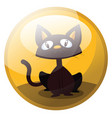 cartoon character of a brown cat sitting and vector image