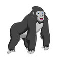 cartoon funny gorilla vector image vector image