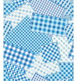 checked pattern patchwork vector image vector image
