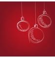 Christmas balls - hand drawn vector image vector image