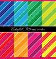 colorful patterns vector image vector image