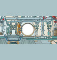 compartment or command deck a spaceship vector image