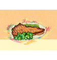 cooked meat vector image vector image
