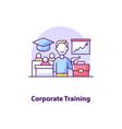 corporate training creative ui concept icon vector image vector image