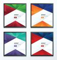 Design crumpled paper 2 color style set vector image vector image