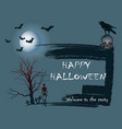 design of a holiday greeting card for halloween on vector image vector image