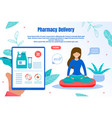 eco pharmacy delivery flat web banner vector image vector image