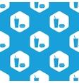 Fast food hexagon pattern vector image vector image