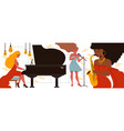 female jazz players composition vector image