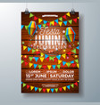 festa junina party flyer design with flags paper vector image vector image