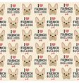 French Bulldog Seamless Pattern in Vintage Style vector image vector image