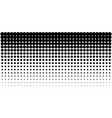 gradient halftone dots horizontal background vector image vector image