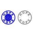 grunge hope scratched stamp seals vector image vector image