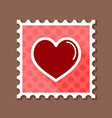 heart stamp love symbol valentine day vector image