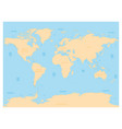 hydrological map of world with labels of oceans vector image vector image