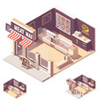 isometric butcher shop interior vector image vector image