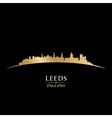 Leeds England city skyline silhouette vector image vector image