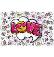 love word bubble vector image vector image