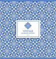 luxury blue and white vintage seamless pattern vector image vector image