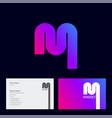 magnet logo gradient monogram business web vector image
