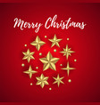 merry christmas greeting card decorated vector image