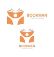 open book and man logo Education logo vector image vector image
