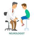 patient doctor medical examination doctor vector image vector image