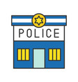 police station police related icon editable stroke vector image