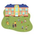 preschool building children vector image vector image