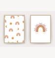 rainbow boho posters scandinavian design vector image vector image