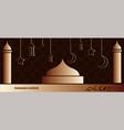 ramadan kareem background banner vector image vector image