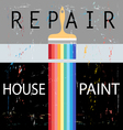 Repair with paint brush vector image vector image